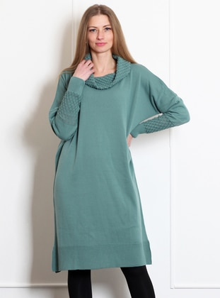 Green Almond - Polo neck - Acrylic -  - Tunic