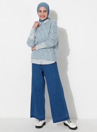 Blue - Denim -  - Pants
