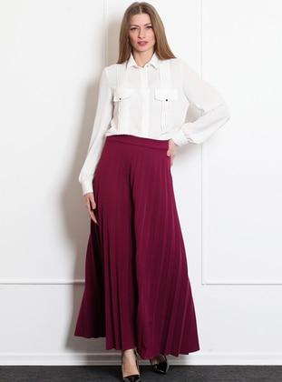 Fuchsia - Unlined - Acrylic - Skirt