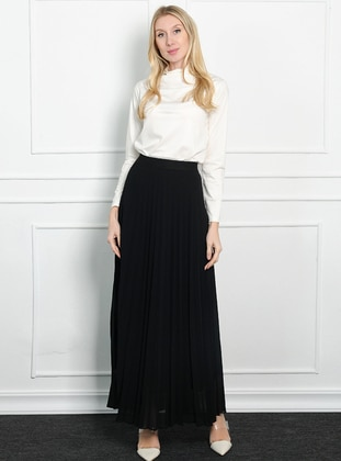 Black - Unlined - Acrylic - Skirt