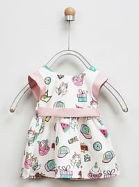 Multi - Crew neck - White - Baby Dress