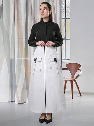 White - Unlined -  - Skirt
