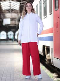 Red - - Pants