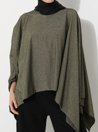 Gold - Crew neck - Unlined - Poncho