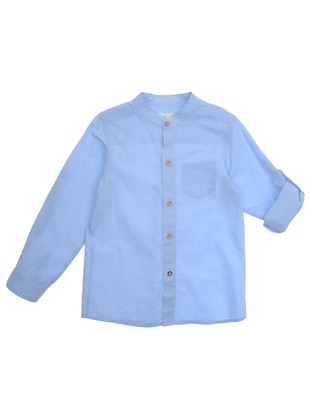 Crew neck - - Unlined - Blue - Boys` Shirt