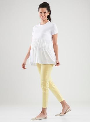 Yellow -  - Unlined - Maternity Pants