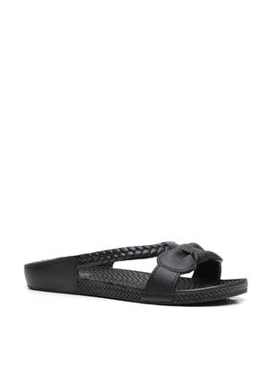 Black - Sandal - Slippers - Ayakkabı Modası