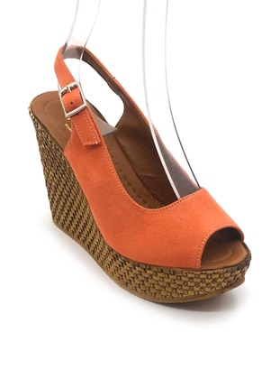 Orange - Sandal - High Heel - Sandal
