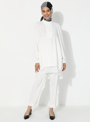 White - Unlined - Suit