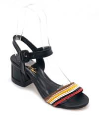 Black - Sandal - High Heel - Sandal