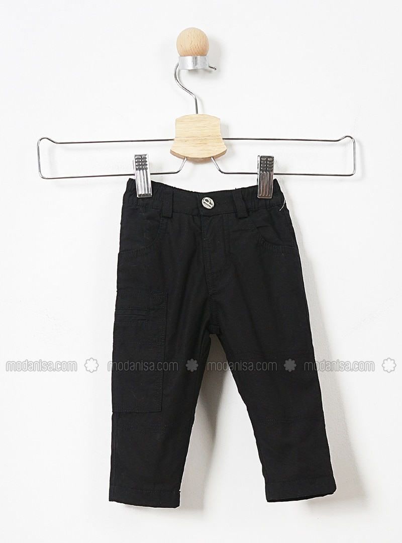 - Unlined - Black - Baby Pants