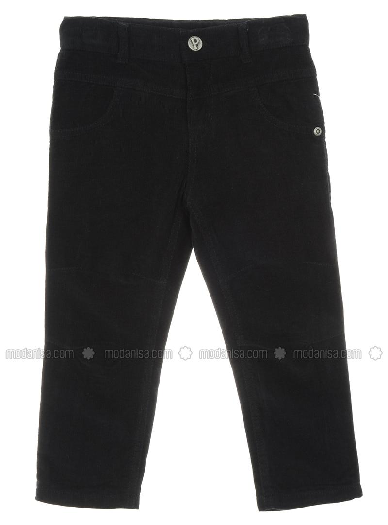 - Unlined - Black - Boys` Pants