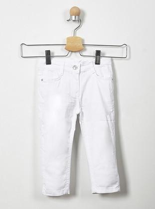 - Unlined - White - Girls` Pants