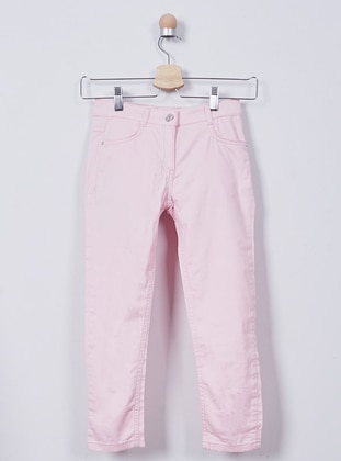 Cotton - Pink - Girls` Pants