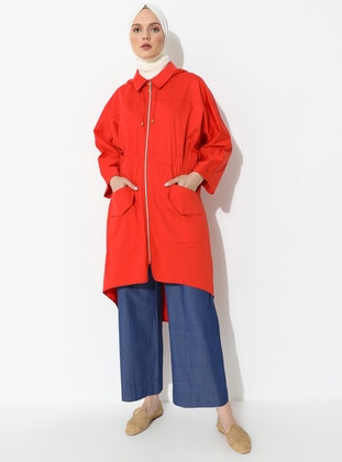 Coral - Unlined - Trench Coat