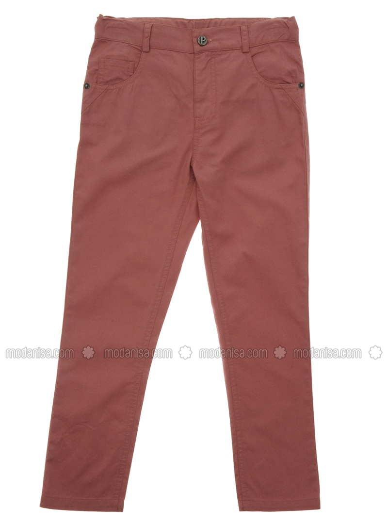 Cotton - Dusty Rose - Boys` Pants