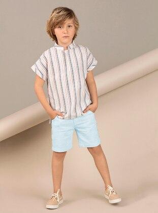 Cream - Boys` Shirt - Ollie&Olla