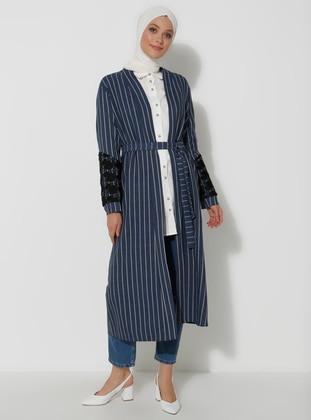 Indigo - Stripe - Unlined -  - Topcoat