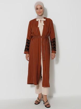 Terra Cotta - Stripe - Unlined -  - Topcoat
