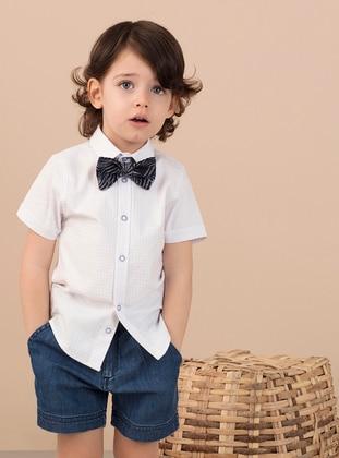 White - Boys` Shirt - Ollie&Olla