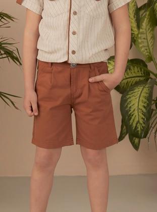 Brown - Girls` Shorts