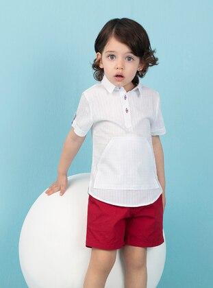 White - Boys` Shirt