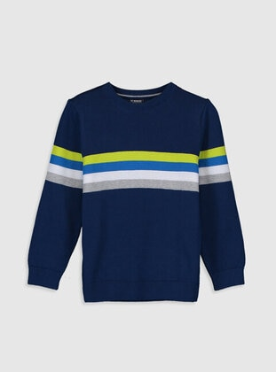 Navy Blue - Boys` Pullover - LC WAIKIKI