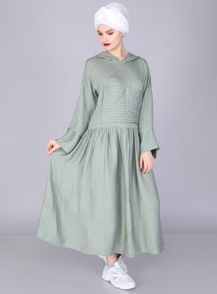 Mint - Stripe - Unlined -  - Dress