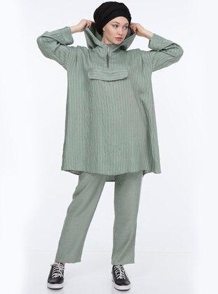 Mint - Stripe - Unlined -  - Suit