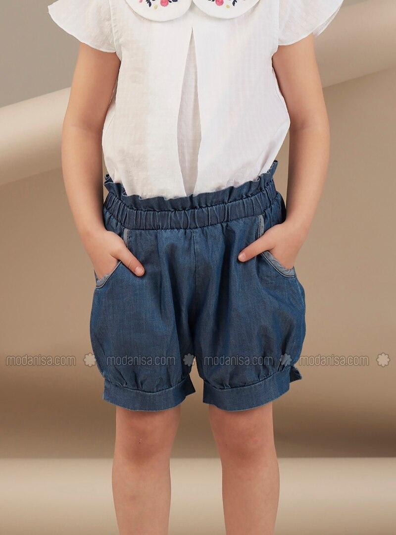 Navy Blue - Girls` Shorts