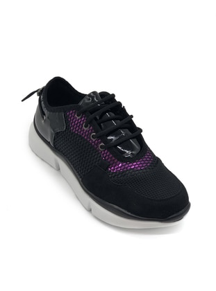 Fuchsia - Black - Sport - Sports Shoes