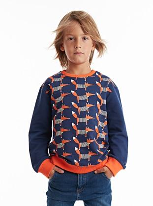 Blue - Boys` Sweatshirt