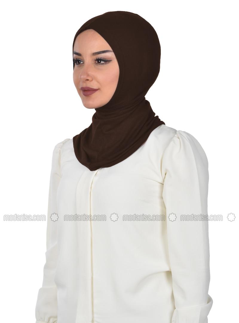 Brown - Simple - Combed Cotton - Bonnet
