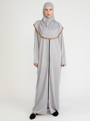 Gray - Unlined -  - Prayer Clothes