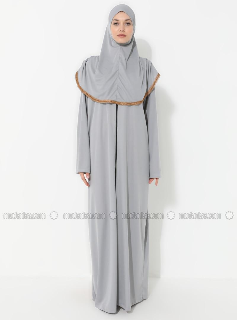 Gray - Unlined - Prayer Clothes - Hal-i Niyaz