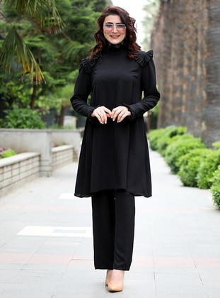 Black - Viscose - Suit
