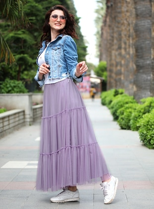 Purple - Fully Lined - Skirt