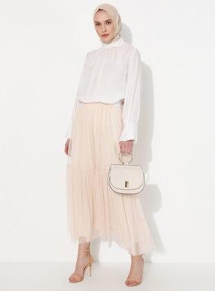 White - Fully Lined - Skirt