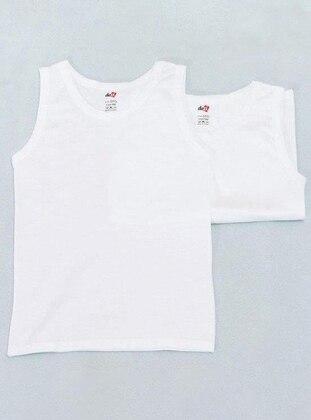 Crew neck -  - White - Kids Underwear
