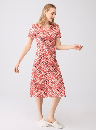 Coral - Point Collar - Modal -  - Nightdress