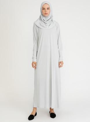 Gray - Silver tone - Unlined - Viscose - Prayer Clothes