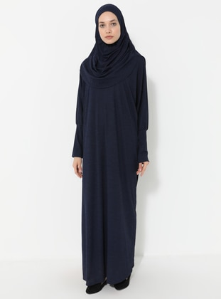 Navy Blue - Unlined - Viscose - Prayer Clothes