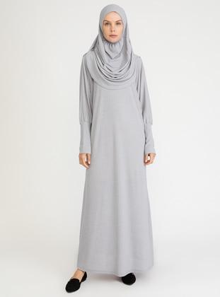 Gray - Unlined - Viscose - Prayer Clothes
