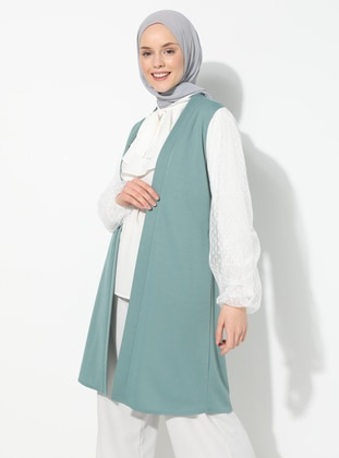 Mint - Unlined - V neck Collar - Topcoat