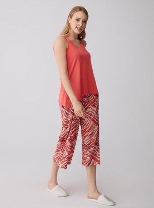 Coral - Crew neck - Modal -  - Pyjama Set