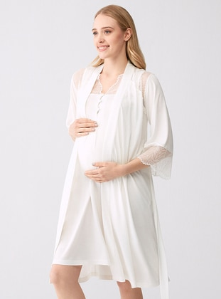 Ecru - Modal -  - Morning Robe
