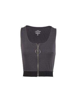 Gray - T-Shirt - Slazenger