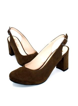 Khaki - Sandal - High Heel - Sandal