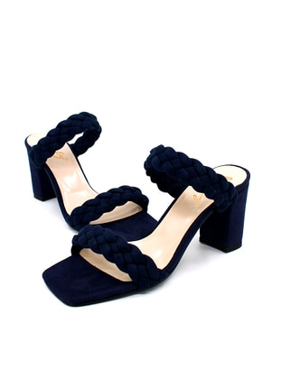 Navy Blue - Sandal - High Heel - Sandal