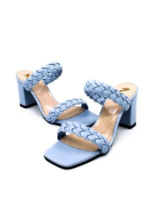 Blue - Sandal - High Heel - Sandal